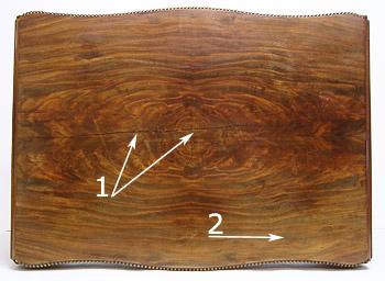 furnier tisch aufarbeiten beistell tisch nubaum und wurzel furnier schublade frei haus. Black Bedroom Furniture Sets. Home Design Ideas
